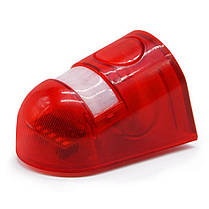 6 LED Солнечная Сигнализация Красный Лампа Движение Датчик Предупредительный звуковой сигнал Водонепроницаемы для Сад Заводских складов - 1TopShop, фото 2