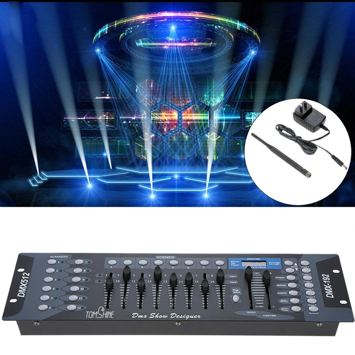 192 канала DMX512 Контроллер освещения Показать дизайнерскую консоль для освещения этапа US Plug - 1TopShop