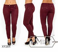 Замшевые женские лосины - брюки в больших размерах FMX9284, фото 1
