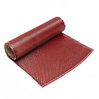 1 м 3 К 200 г Красного Углеродного Волокна Гибрид Ткань Ткань Саржевого переплетения Ткань Высокая Прочность для Строительства Моста Ремонт - 1TopShop