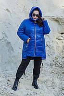Женская стеганная зимняя куртка в больших размерах 10mbr1156, фото 1