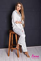 Жіноча шовкова піжама з брюками 64mod65