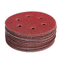 50шт 150мм 6 отверстий шлифовальный диск 40-800 зернистая наждачная бумага абразивный Инструмент - 1TopShop