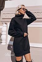 Платье вязаное балахон с горловиной 14mpl2146, фото 1