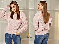 Объемный вязаный свитер с вырезом на спине 31mds486, фото 1