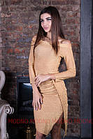 Платье из люрекса с открытыми плечами 71mpl2204, фото 1