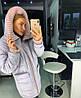 Женская зимняя куртка с капюшоном и довязами 18mku173