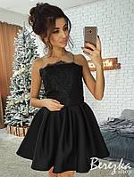 Платье с пышной юбкой и рукавом из сетки 66mpl2210, фото 1