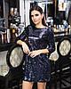 Платье из пайетки с вырезом на спине 45mpl2223
