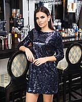 Платье из пайетки с вырезом на спине 45mpl2223, фото 1