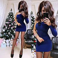 Короткое облегающее платье с одним рукавом 9mpl2232, фото 1