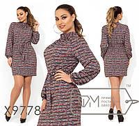 Принтованное платье в большиfmx размераfmx под пояс fmx9778