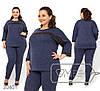 Женский брючный костюм в больших размерах с кофтой fmz0601