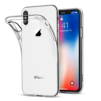 Силиконовый прозрачный чехол Grand для iPhone Xr Xs X 0007, КОД: 288614
