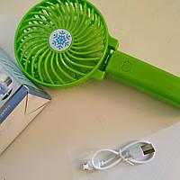 Ручной вентилятор на аккумуляторе 3.7v micro usb, фото 1