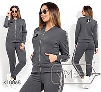 Женский спортивный костюм в больших размерах с лампасами 1mbr1362, фото 1
