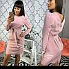 Приталенное платье с вырезом на спине и поясом 34mpl2400