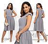 Принтованное летнее платье в больших размерах с пышной юбкой 1mbr1489