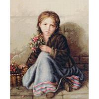 """Набор для вышивания крестом """"Портрет девочки"""" Luca-S"""
