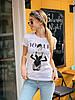 Женская хлопковая футболка с рисунком 22mfu199
