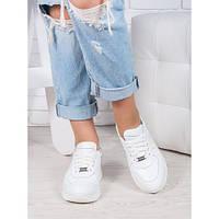 Женские белые кроссовки из натуральной кожи oc6919