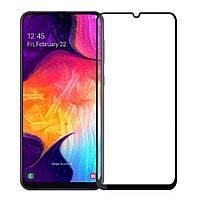 Защитное стекло 2.5D CP+ (full glue) для Samsung Galaxy A20 / A30 / A30s / A50 / A50s / M30 / M30s Черное