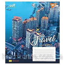 "Тетрадь 96 листов YES ""TRAVEL THE WORLD"" линия 763876, фото 2"