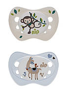 Силиконовая пустышка Для новорожденных 0-2 месяцев Nip 313040