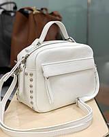 Вера пелле Италия Vera Pelle кожаные сумки в белом цвете , фото 1