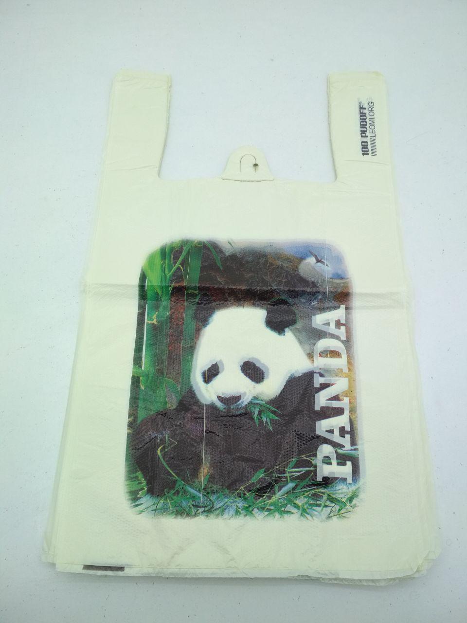 """Пакет с ручками( типа Майка ) (29+2*7,5х50) """"Панда """"Леони (100 шт)"""
