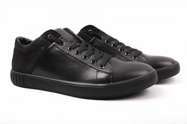 Туфлі комфорт Visazh комбіновані, колір чорний