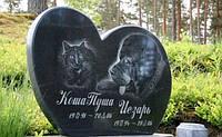 Пам'ятник для кішки та собаки на могилу із граніту