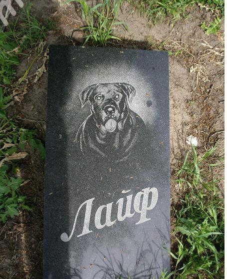Стела памятник для собаки на могилу