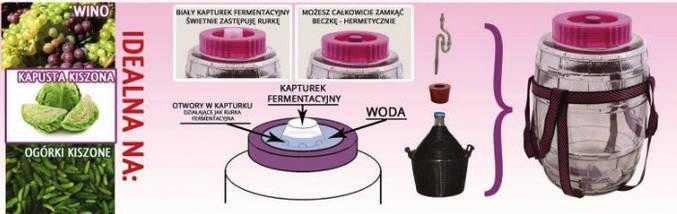 Бутыль стеклянный для вина с гидрозатвором 9л, фото 3