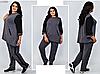 Спортивний костюм жіночий з асиметричною тунікою, з 54-66 розмір