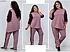 Женский спортивный костюм с асимметричной туникой, с 54-66 размер