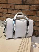 Женская кожаная сумка в белом цвете Топ продаж , натуральная кожа