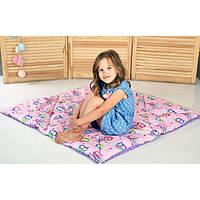 Игровой стеганый коврик «Магия» (розовый/фиолетовый) 110х110 (700021)