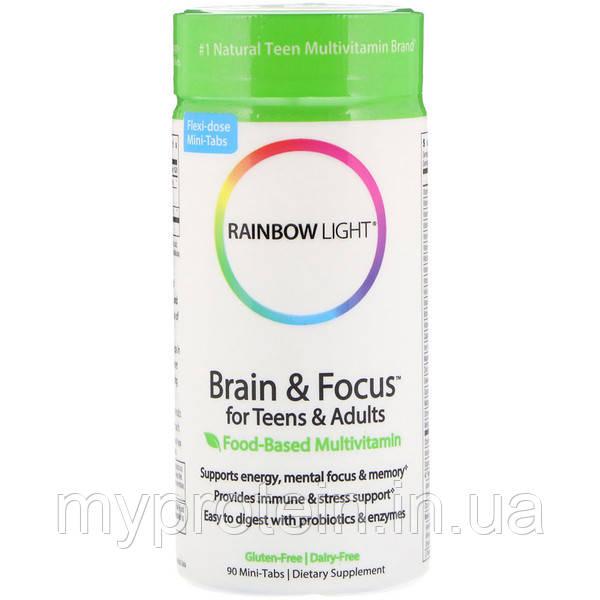 Rainbow LightВитамины и минералыBrain & Focus for Teens & Adults90 mini-tabs