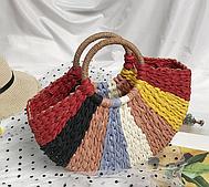 Плетені кольорова сумка