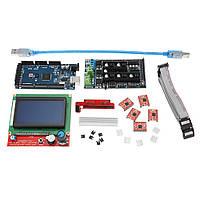LCD 12864 Дисплей + Mega2560 R3 + Обновление Ramps 1.6 База на Ramps1.5 Управляющая плата Набор с 5шт. A4988 Драйвер для Reprap 3D Printer - 1TopShop