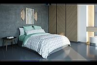 Комплект постельного белья, хлопковое постельное белье, ткань Ранфорс, полуторное постельное, Стрелка серая