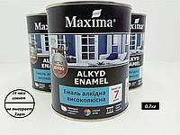 Эмаль алкидная высококачественная Maxima(ярко-голубой)