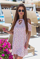 Платье женское летнее с открытыми плечами р, 42 44 46 48 , фото 1