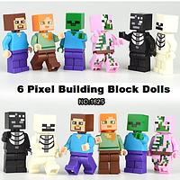 Набор 6 шт. Майнкрафт Minecraft Фигурки героев. Лего конструктор аналог., фото 1