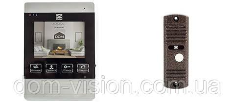 Комплект видеодомофона с записью DOM DS-4S + DOM CS01 панель вызова