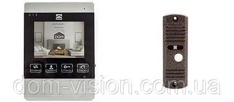 Комплект видеодомофона с записью DOM DS-4S + DOM CS01 панель вызова, фото 2