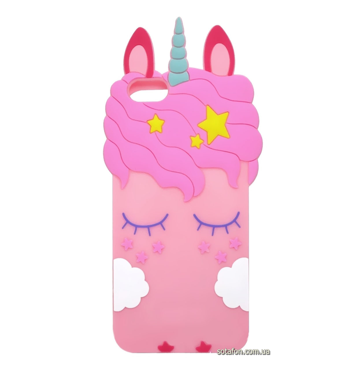 Чехол-накладка TPU 3D Little Unicorn для IPhone 5 / 5s / SE Pink