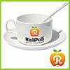 Печать на кофейных чашках с ложкой и блюдцем. Нанесение изображения на чашку для кофе с ложкой и блюдцем