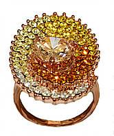 Кольцо фирмы Neoglory. Камни: разноцветный циркон. Цвет: позолота КО. Есть : 17 р. 18 р. 19 р.